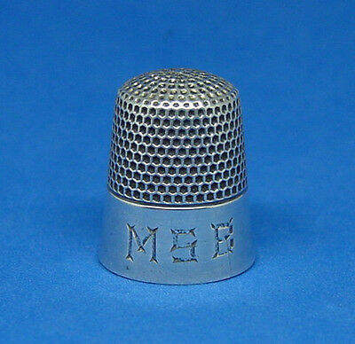 Antique Sterling Silver Thimble By Ketcham & Mcdougall Size 8 Excellent