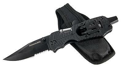 3 in 1 Survival Folding Knife with Screwdriver and LED Light