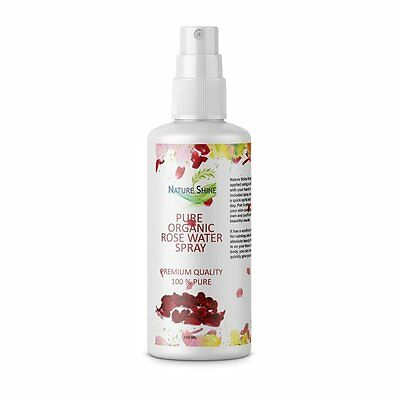 Pure Natural Rose Water Spray Toner,Cleanser,Moisturizer For Fresh Face 100ml