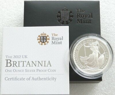 2012 Royal Mint Britannia 25th Anniv £2 Two Pound Silver Proof 1oz Coin Box Coa
