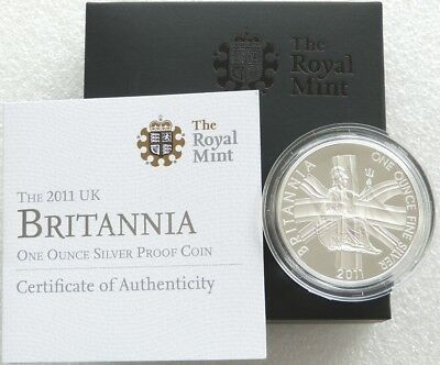 2011 Royal Mint Britannia £2 Two Pound Silver Proof 1oz Coin Box Coa Issue 2,500