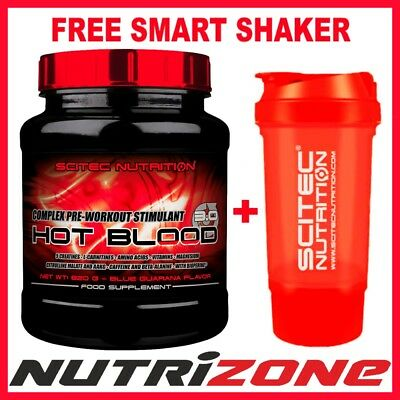 SCITEC NUTRITION HOT BLOOD 3.0 Pre Workout Creatine Amino Acids + SMART SHAKER