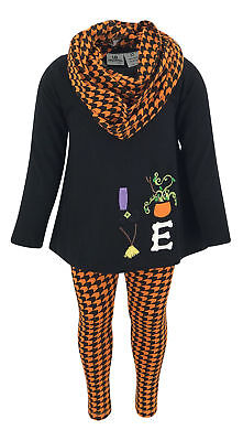 Girls Halloween Legging Set Boutique Toddler Kids Clothes Outfit Top 2t, 3-8 USA