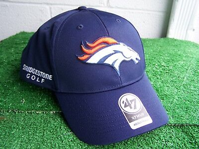Bridgestone Golf Denver Broncos Navy Blue Golf Hat Cap NFL Team Adjustable  NEW 654dd63b2239