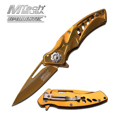 MTECH USA Spring Assisted Tactical Ballistic EDC Folding Pocket Knife MT-A917GD