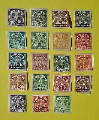 Austria 1920 - 1921 Newspaper stamps ( 19 stamps )