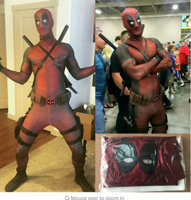 2017 New Deadpool Avengers Adult Kids Authentic Full Body Lycra Costume Outfit