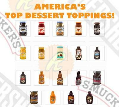 Top Brand Dessert Toppings :hersheys, Smuckers, Reeses!! Free World Shipping!!