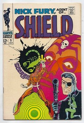 (1968) Nick Fury Agent Of Shield #5 Jim Steranko Cover & Art! 4.5 / Very Good+