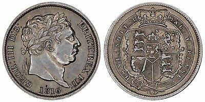 1816 George III silling Great Britain silver coin