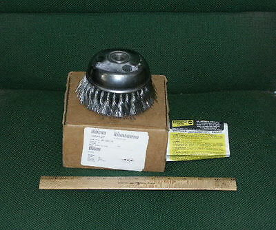 "6"" Osborn Knotted Single Row Wire Cup Brush .014 Wire - Cat. No. 33011 - NIB!"