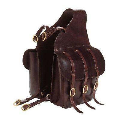 New Leather Saddle Bag Double Saddle Panniers 100% Quality Leather Black & Brown
