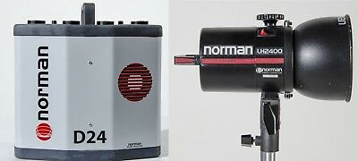"""Norman D24 Digital 2 Channel Power Supply and LH2400B Lamphead w 5"""" Reflector"""
