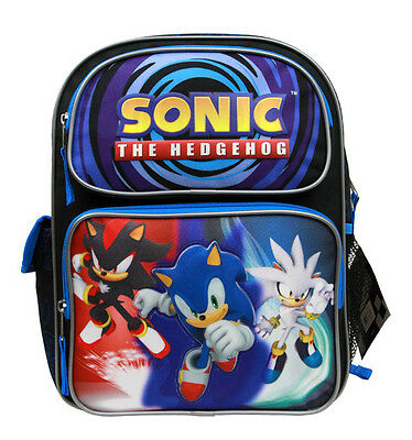 "New Arrive Sega Sonic The Hedgehog 14"" Medium School Backpack-Blue"