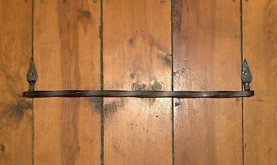 "Leaf 18"" twisted Wrought Iron Bath Towel Bar by PCBS Glad to do custom work"