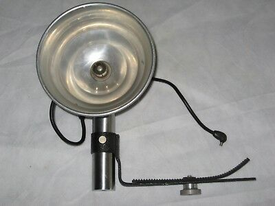 "Vintage TLR Flash Bulb Holder, Reflector, Platform and Cord 5.5"" Diameter"