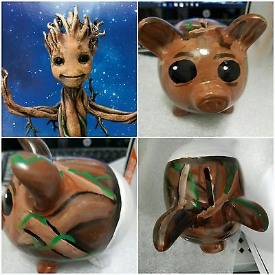 Painted piggy bank Baby Groot Wedge Corp