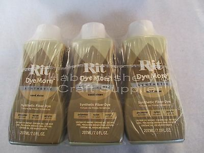 Rit Liquid Dye For Synthetics 210Ml *sand Stone X 3