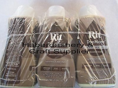 Rit Liquid Dye For Synthetics 210Ml*chocolate Brown X 3