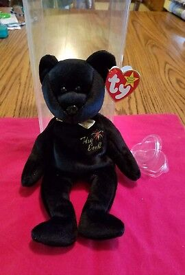 New Retired Ty Beanie Babies The End Bear 04265  Errors, Flat Tush Tag