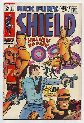 (1969) Nick Fury Agent Of Shield #12 Barry Smith Cover And Art! 5.5 / Fine-