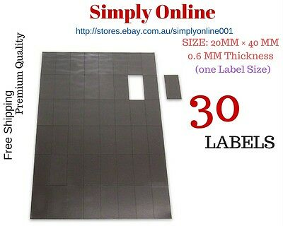 30 Adhesive Fridge Magnets Post Cards Invitations 20 mm × 40 mm Magnetic Strips