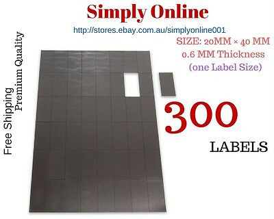 300 Adhesive Fridge Magnets Post Cards Invitations 20 mm × 40 mm Magnetic Strips