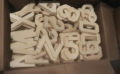 "Hand Carved Pine Wood Numbers (size 5 1/4"") NEW   ** Number 5 **"