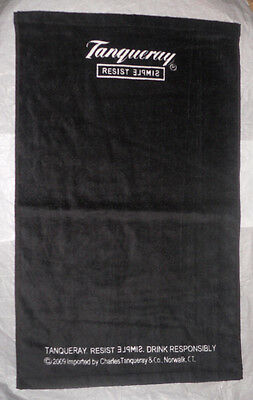 TANQUERAY Black Bar Towel Hand Gym Workout Black Resist Simple Rare *new*