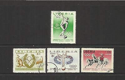 Liberia ~ 1956 Olympic Games Melbourne (Postage Cto Set)
