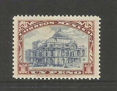 Mexico ~ 1923 One Peso National Theatre (Mint Mh)