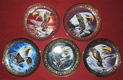 The Franklin Mint Royal Doulton  5 collector plates by Ronald Van Ruyckevelt