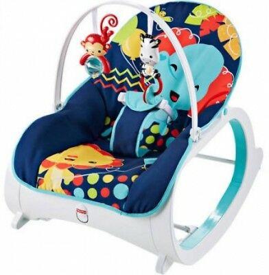 Fisher-Price Infant-To-Toddler Baby Boy Seat Bouncer Chair Sleeper Swing Naps