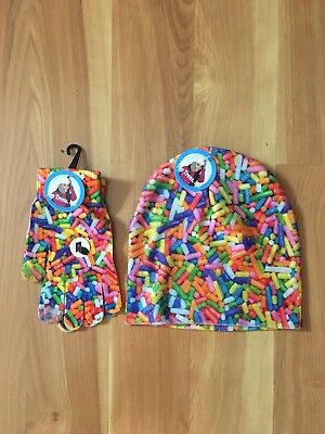 Top Trenz Sprinkles Hat & Glove Set NWT one size 8 to adult