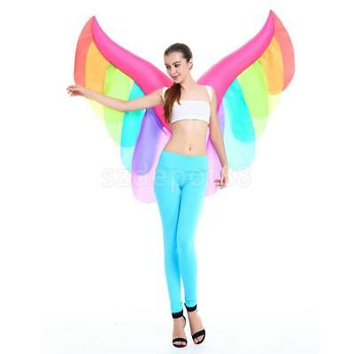 Inflatable Constume Rainbow Butterfly Wing Fairy Angel Halloween Fancy Dress
