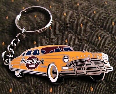 Hot Rod Roadster - Chicago Ill - Hard Rock Cafe Enameled Key Chain Fob