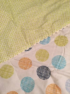 """Lolli Living Reversible Baby Bot Quilt or Quilted Comforter - Bot Dot  37"""" x 43"""""""