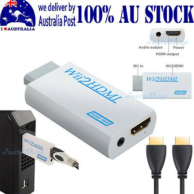 Wii To HDMI 720P/1080P Converter Adapter with 3.5mm Audio Output AU STOCK