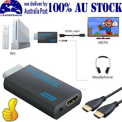 Wii to HDMI Converter Mini 3.5mm Adapter Wii2HDMI Audio Video Output &HDMI Cable