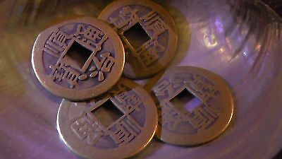 4 Lucky Chinese Coins - Ancient Money Good Luck Charm