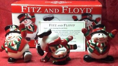 Fitz and Floyd Merry Christmas Snowmen Tumblers