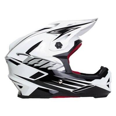 THH T-42 #2 Full Face BMX or Downhill Helmets - BLACK WHITE YOUTH LARGE