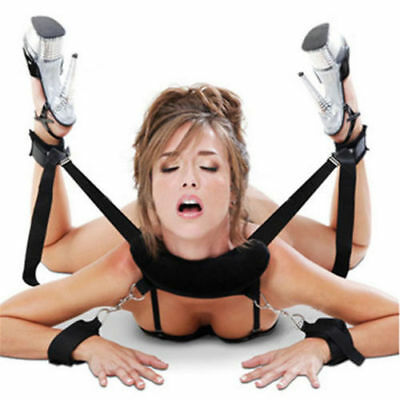 Hot Adult Sex Fetish Restraint Bondage Collar 4 Way Hand Ankle Cuff Strap