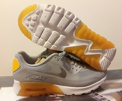 competitive price 092d8 8f5cf Nike Women s Air Max 90 Ultra Essential Grey orange Running 724981 004  Size  8