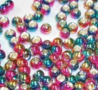 25 COUNT PREMIUM METALLIC GREEN BRASS BEADS FOR FLY TYING 7 SIZES TO PICK FROM