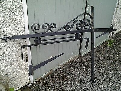 large steel sign bracket