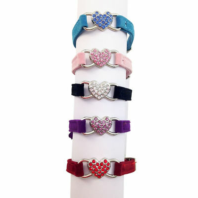 Cat Kitten Dog Puppy Pet Pets safety release adjustable Heart Bling Collar