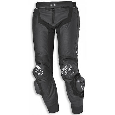 Held Grind Stocky Black Moto Motorcycle Mens Short Leg Leather Pants All Sizes