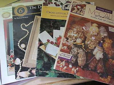 11  Different CRAFT Booklets/ Patterns including Cross Stitch.....Vintage