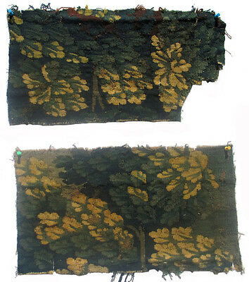 Two Antique Verdure Tapestry Fragments